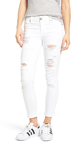 Rip & Repair Patch Skinny Jeans