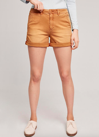 anthropologie relaxed chino shorts