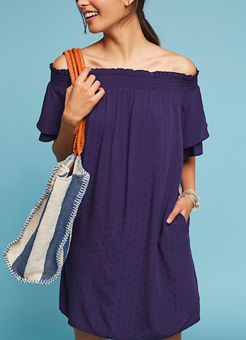 anthropologie off the shoulder