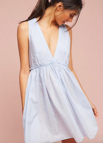 anthropologie slip dress