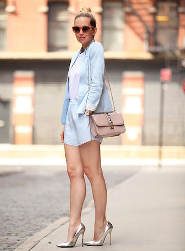Brooklyn Blonde Pastel Blue Blazer