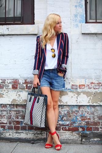 Brooklyn Blonde Nautical Blazer