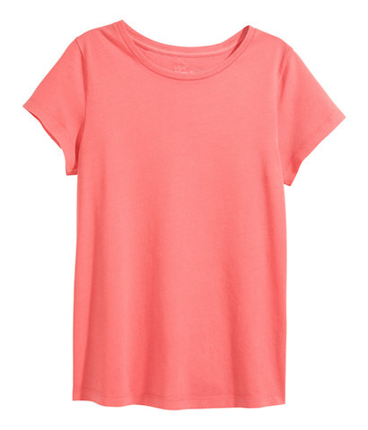 h&m coral t-shirt