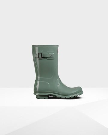 Hunter short gloss boots