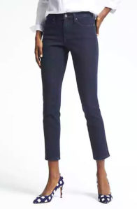 banana republic zero gravity dark wash ankle jean