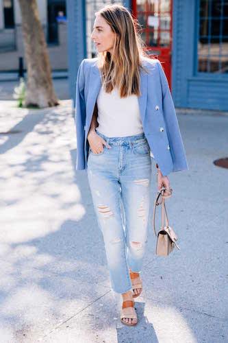 Jess Ann Kirby Light Blue Blazer
