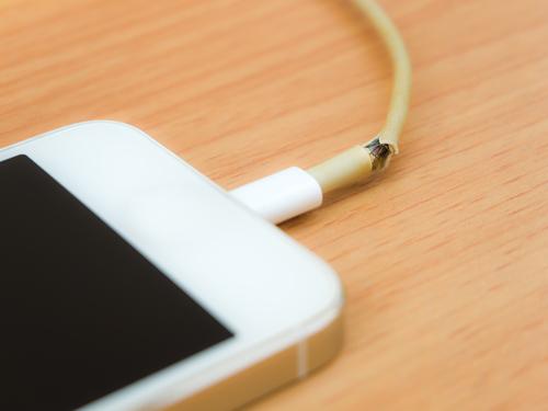 broken charger
