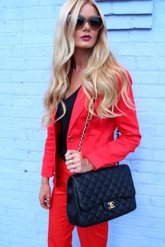 Barefoot Blonde Red Blazer