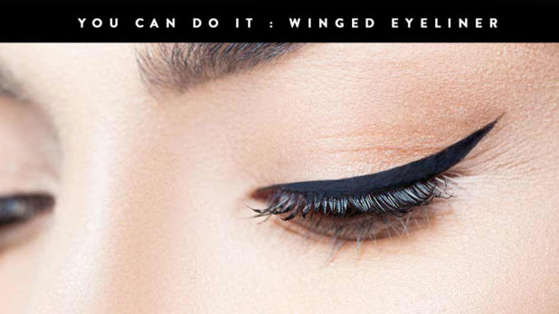 Once And For All, Here's How To Do The Winged Eyeliner Tape Trick  #YouCanDoIt