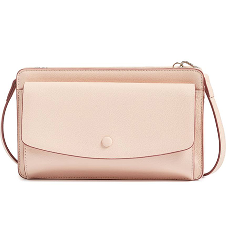 Convertible Leather Crossbody Bag