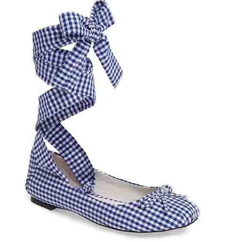 Sarine Ankle Wrap Flat