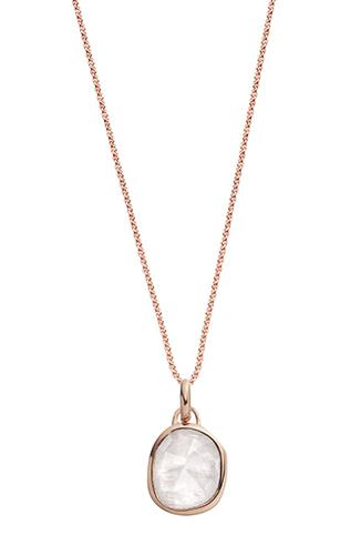 Siren Semiprecious Stone Pendant Necklace