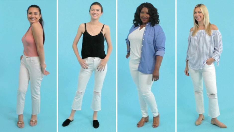 61a33626e5ab VIDEO  4 New Ways To Wear White Jeans This Summer - SHEfinds
