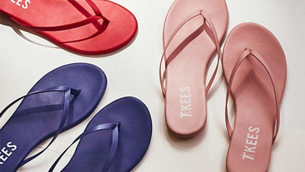 Consider Yourself Warned: Anthropologie Has TKEES Leather Flip Flops On Sale For $20 & They're Selling Fast