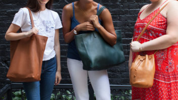 These Leather BAGGU Handbags Are Total Game-Changers