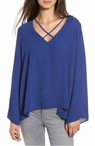 Nordstrom cross front blouse