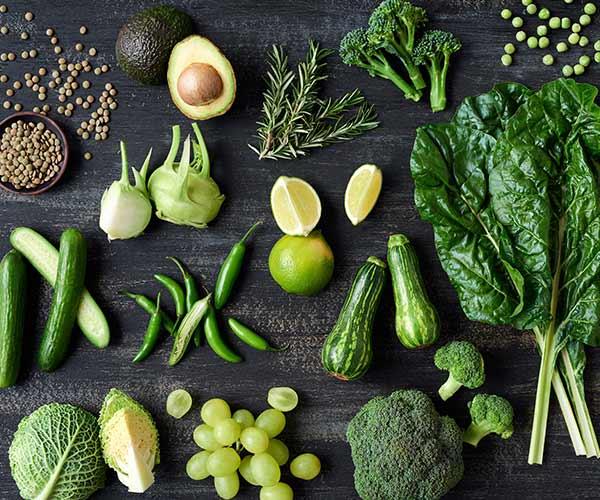 greens flat stomach