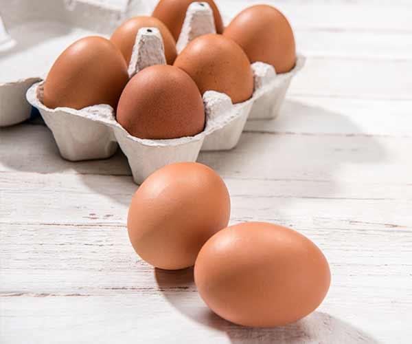 eggs flat stomach