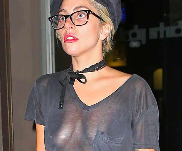 See-through blouse bra mature
