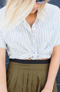 damsel in dior tie front shirt