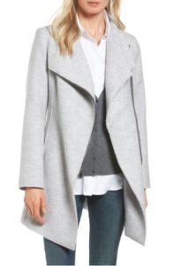 nordstrom halogen asymmetrical zip boiled wool blend coat