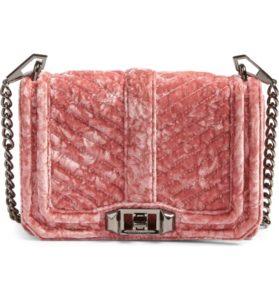 nordstrom rebecca mink off small love velvet crossbody bag