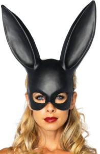 flydream top grade party cosplay pvc bunny mask adult masquerade sexy girl mask black rabbit ear mask halloween decoration