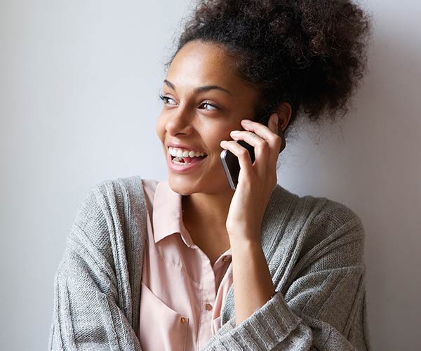 women calling parents