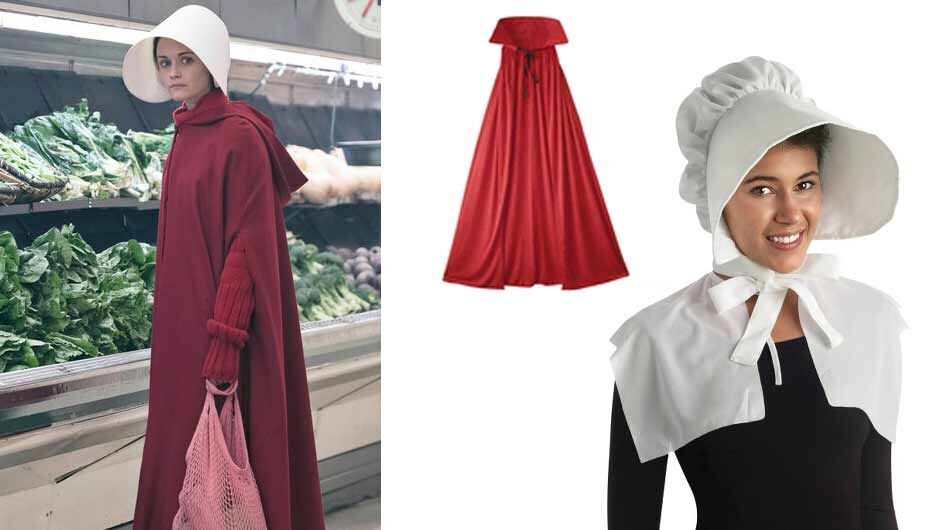 heres how to make a handmaids tale halloween costume with only 4 items