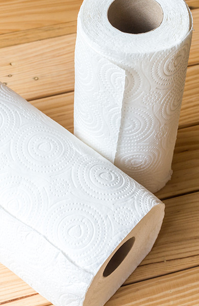 Blot Wetness With Paper Towels