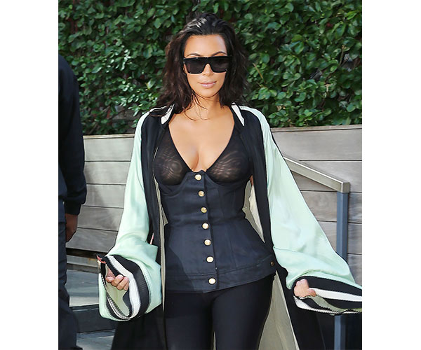 kim kardashian see thru top