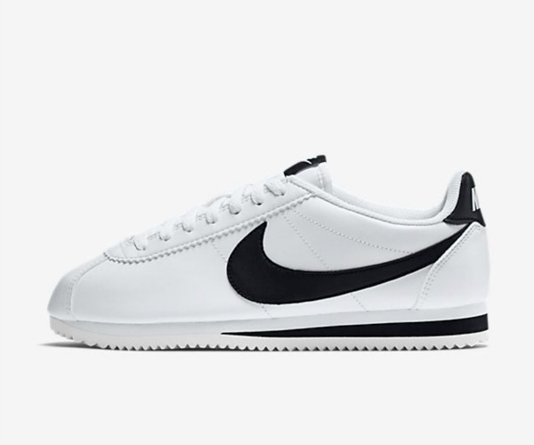 fashion sneaker nike white and black