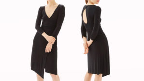 Psst! This Cheap Black Wrap Dress Is Crazy Flattering On Every Body Type