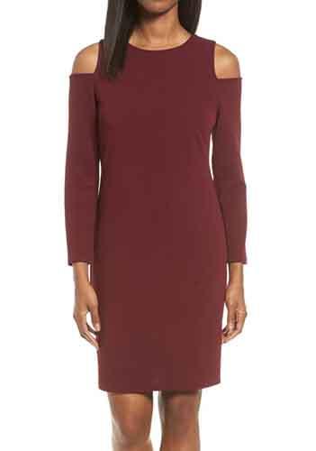Knit Cold Shoulder Dress