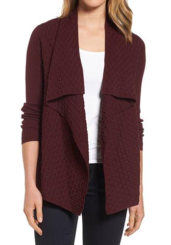 Mixed Cotton Knit Cardigan
