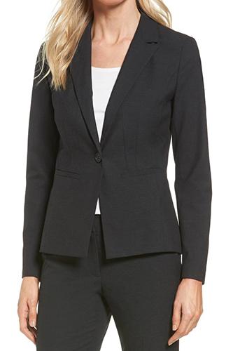 Ela One-Button Stretch Suit Jacket