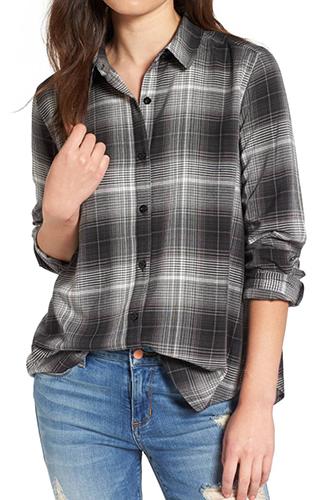 Print Long Cuff Shirt
