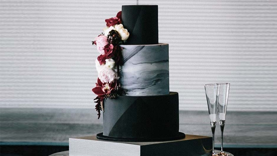 The One Mistake Brides Make When Ordering An All Black Wedding Cake