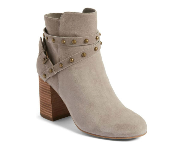 5719423010c You can also switch things up with a light-colored bootie in a suede  finish. Studded straps add a cool rustic feel to the already enviable  option.