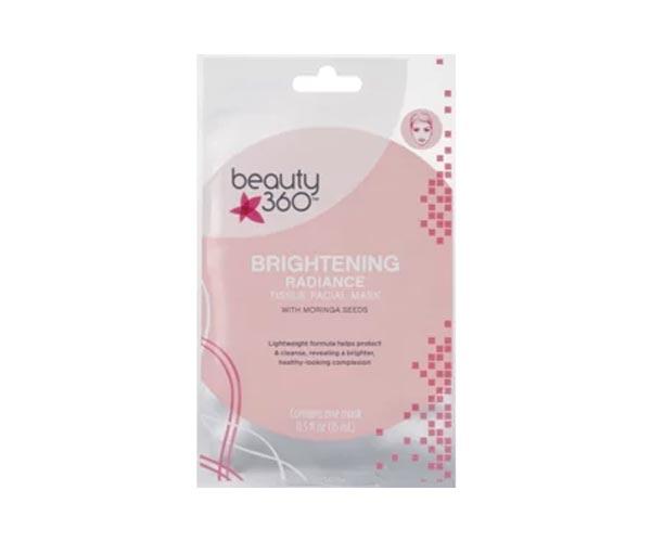 Beauty 360 Brightening Radiance Tissue Facial Mask