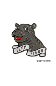 Fiona the hippo pin