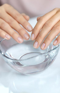 nails in water
