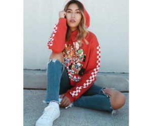 Forever 21 x Super Nintendo red hoodie