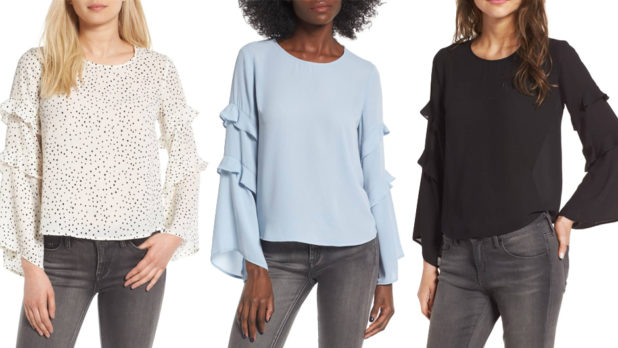 Order This Crazy Affordable Statement Blouse In Every Color While It's On Sale At Nordstrom!