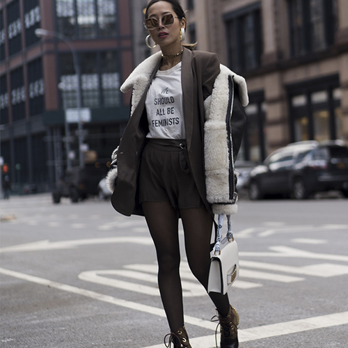 150b2d0d9 4 Cute Outfit Ideas For How To Pull Off Shorts With Tights This Season