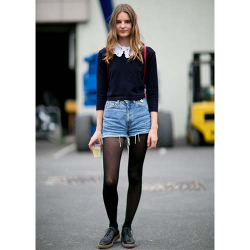 7ae6db4fef 4 Cute Outfit Ideas For How To Pull Off Shorts With Tights This Season -  SHEfinds