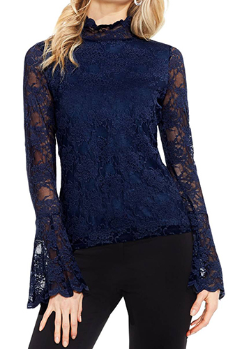 Bell Sleeve Lace Top