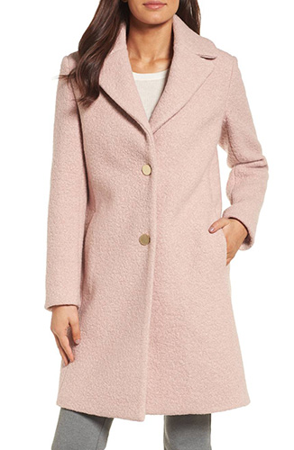 'Tessa' Boiled Wool Blend Coat