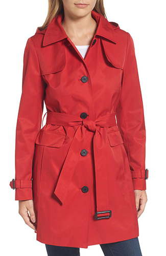 Water Resistant Belted Trench Coat