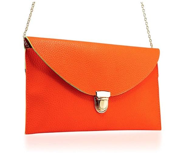 orange amazon clutch
